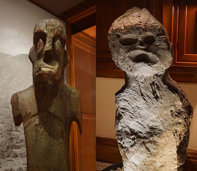 weird hawaiian ancient art sculptures figures