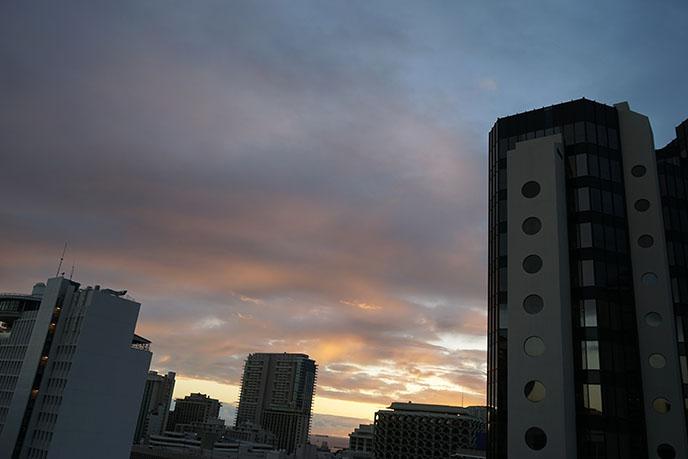 laylow hotel balcony sunset hawaii