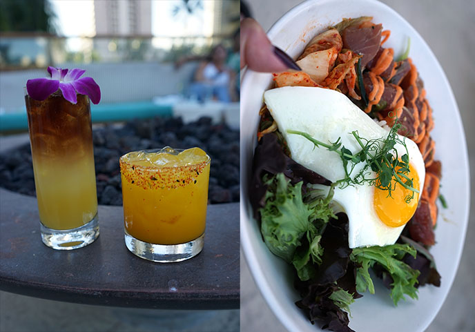 the hideout honolulu cocktails food menu