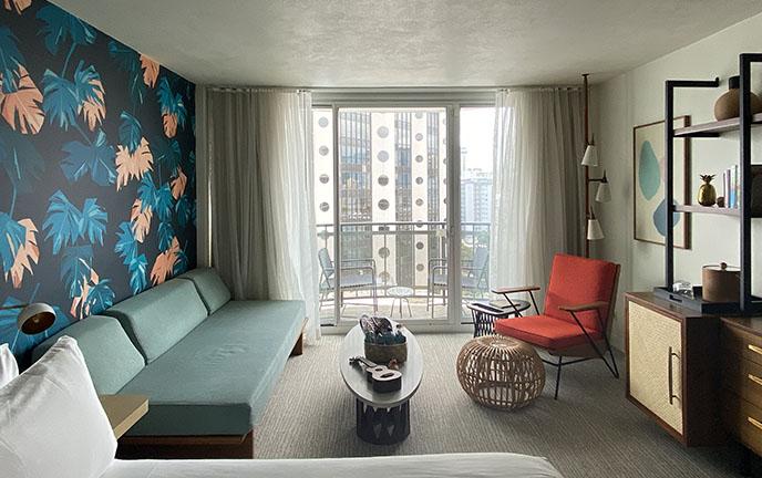 laylow hotel room interior single bed suite balcony