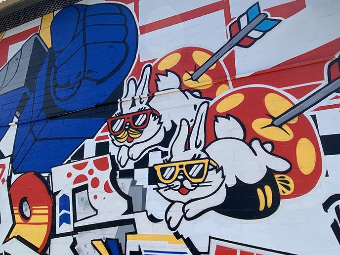 gundam robot rabbits Kaka'ako artists