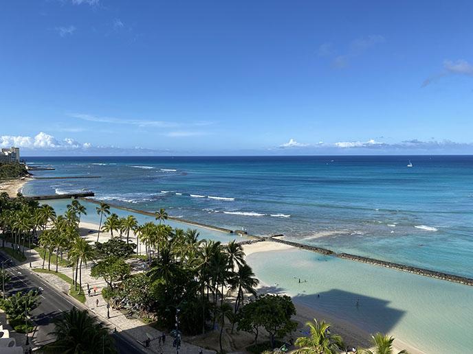 honolulu beach Waikiki Hotels with Balconies