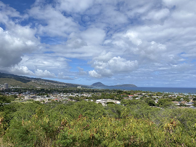 diamond head volcano lookout viewpoint view