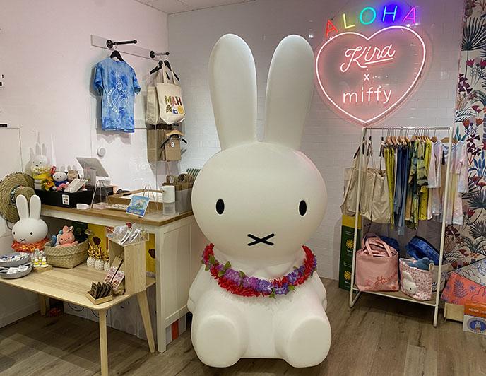 kira x miffy store giant bunny statue honolulu