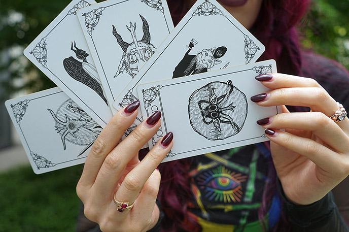 lucien greaves art tarot cards design card