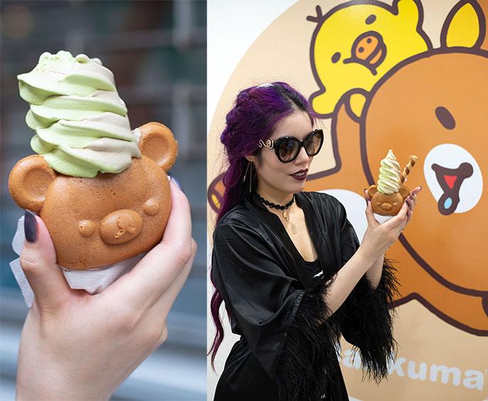 rilakkuma taiyaki nyc kawaii cute ice cream bear dessert