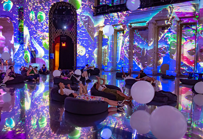 nyc cipriani video light projections art installation