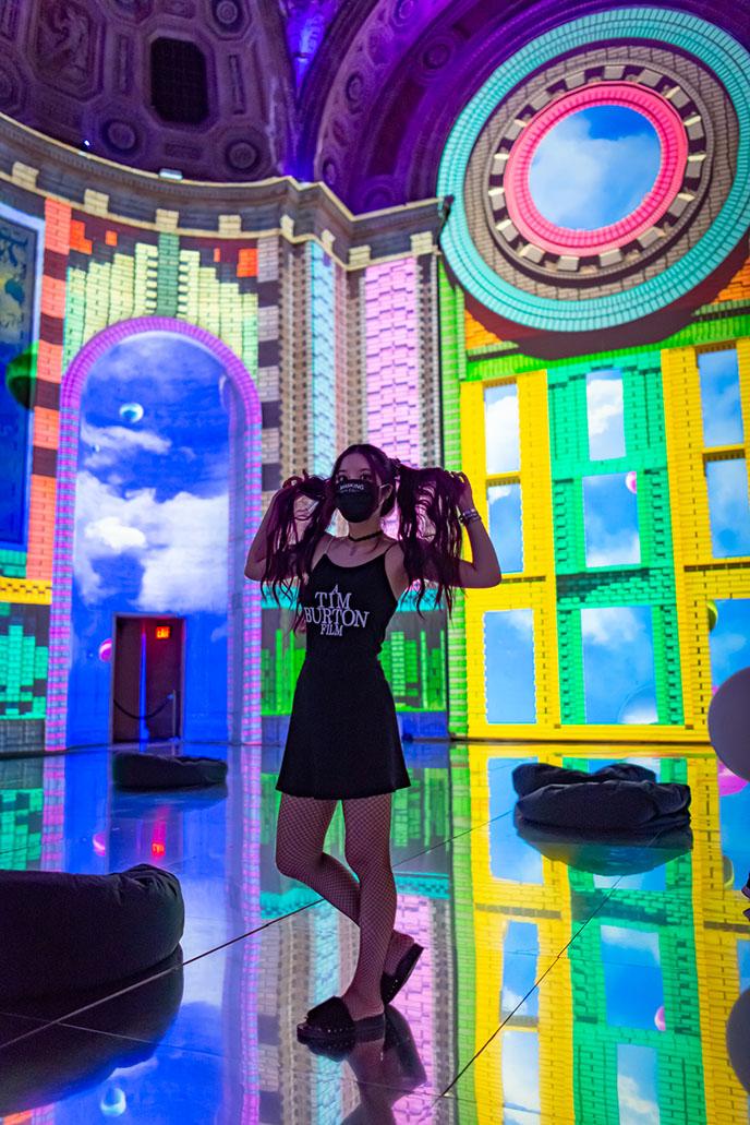 a tim burton film dress goth tank top fantasy immersive exhibit