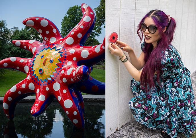 Japanese artist Yayoi Kusama weird bizarre art