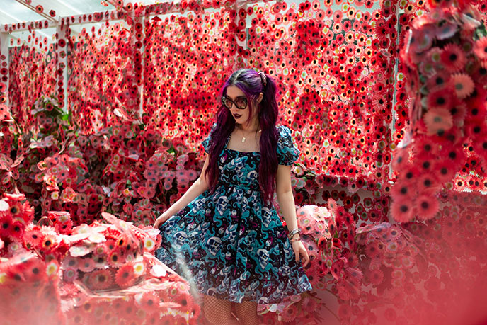 yayoi kusama obliteration greenhouse, Flower Obsession
