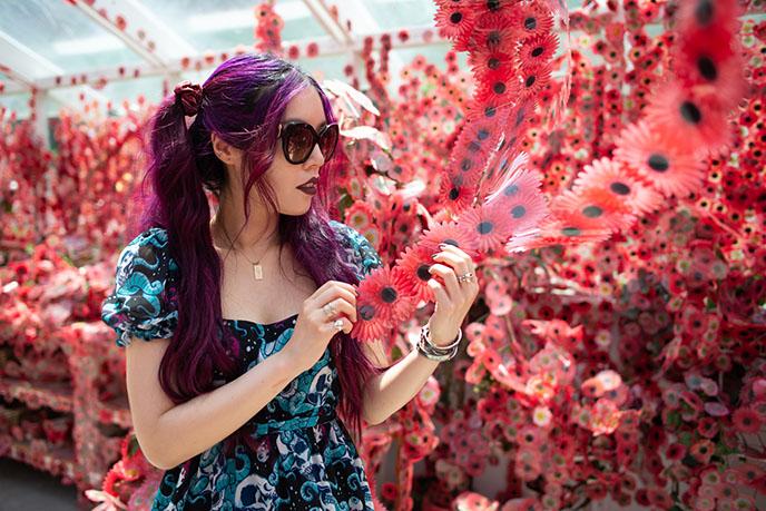 red Flower Obsession stickers yayoi kusama immersive