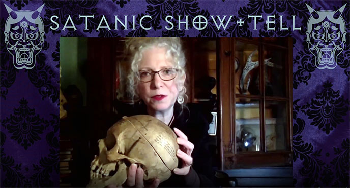satanic show and tell tv show evan michelson oddities host star