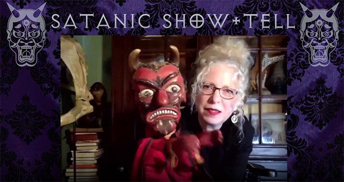 evan michelson oddities satan puppet antique vintage devil
