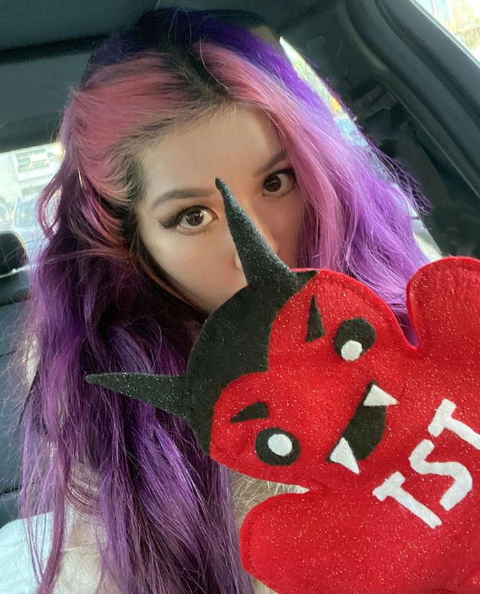 cute kawaii satan puppet satanic temple toy plush