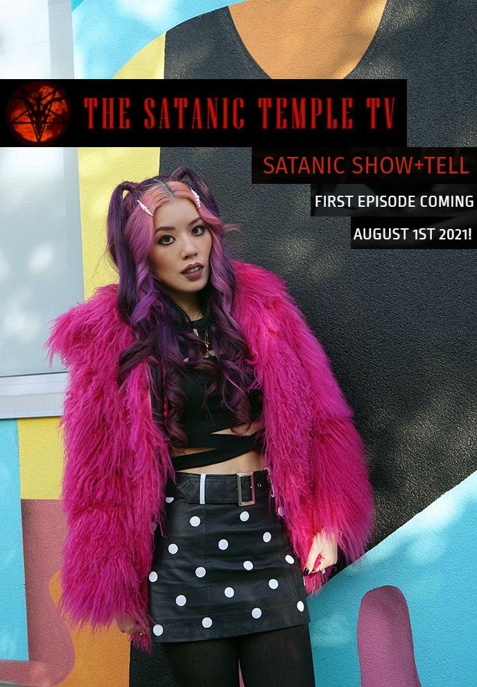 the satanic temple television program Satanic Show + Tell host