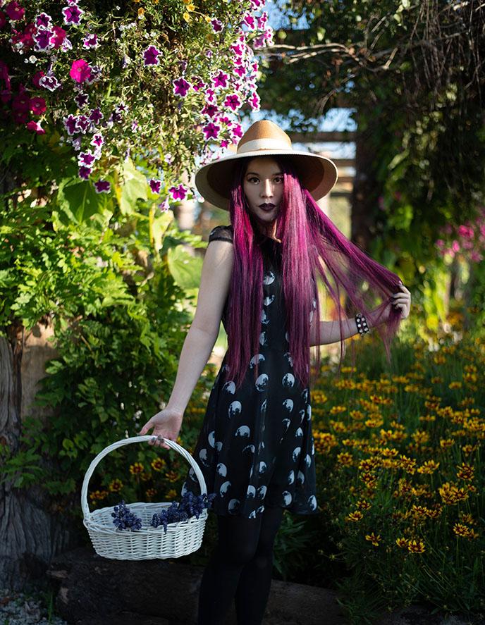 gothic cottagecore dresses flower garden dress goth gardening