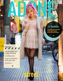 La Carmina on the cover of Adone Magazine
