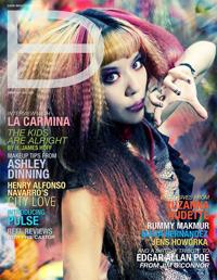 Goth model, magazine cover