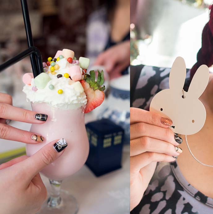 white rabbit necklace miffy