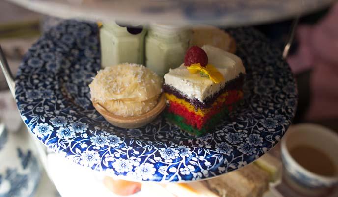 rainbow cake, high tea