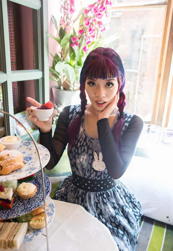 gothic lolita high tea, tea party