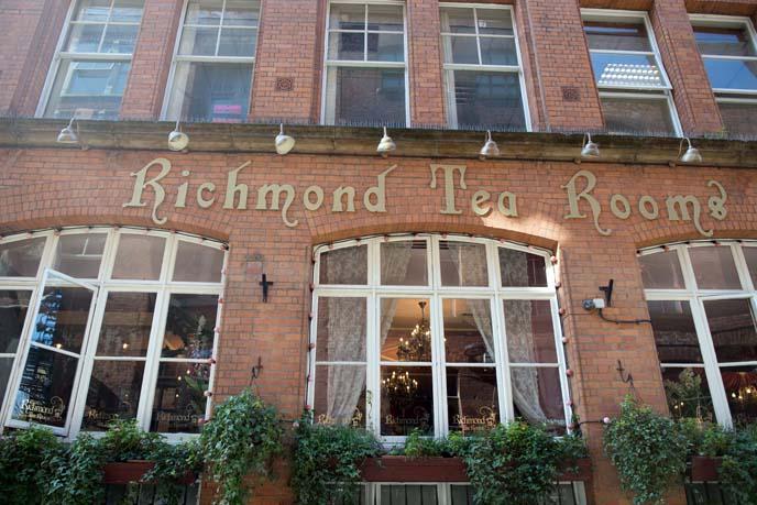 manchester tea parlor, cafe