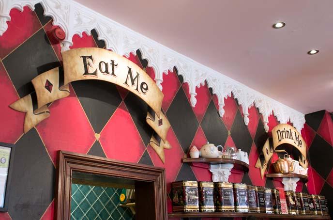 eat me drink me signs
